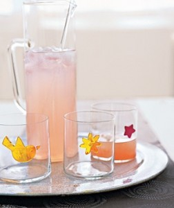 Креативные аппликации для стаканов